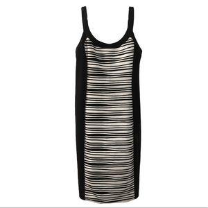 R&M Richards|black and white sleeveless dress/tall